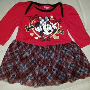 Disney Baby Girl's Red Minnie Mouse Tulle Skirt